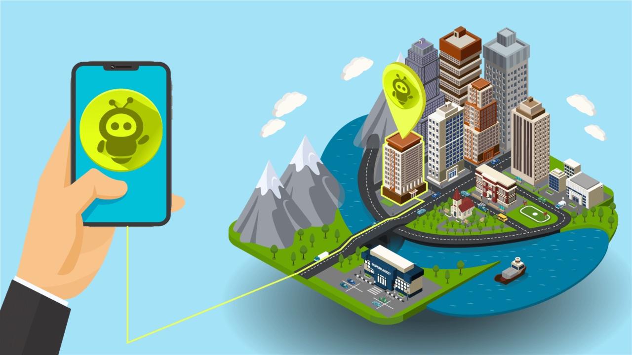 Wiatag app de seguimiento para smartphone